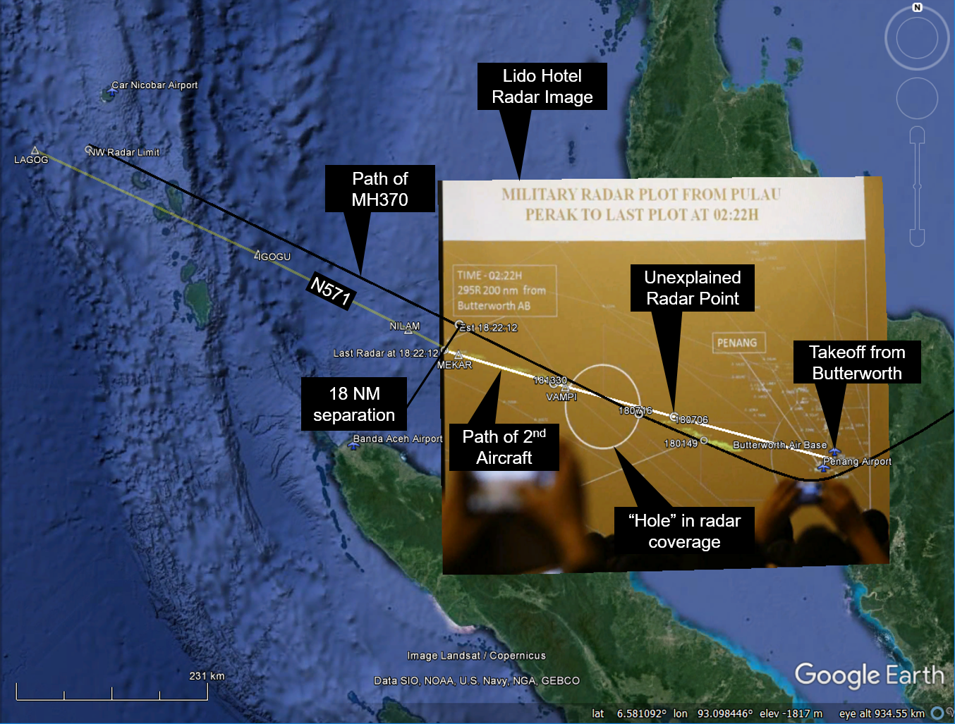 Radar Maybe Captured Fighter Jet Chasing MH370 « The Disappearance ...